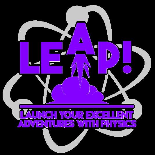 LEAP logo (rocket launch inside an atom)