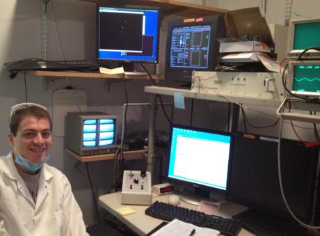 John Sakon at a Neural Science Lab at New York University